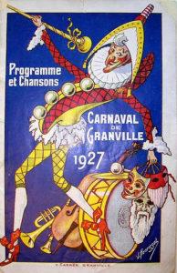 Ancienne affiche carnaval
